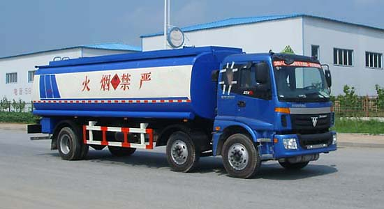 欧曼前双后单化工液体运输车