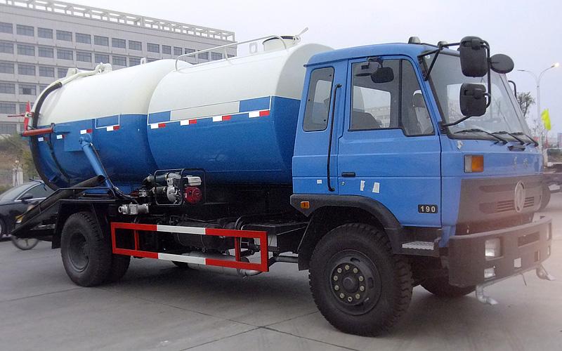 东风153洒水吸粪清洗车