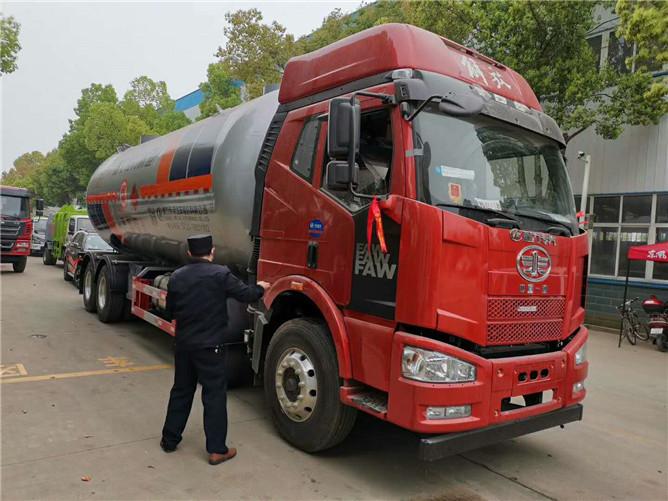 37.2立方解放液化气运输车